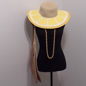 Accessories - 50% OFF REFRESHING Lem🍋n Drop Floppy Straw Hat